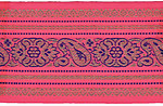 85mm Jacquard Ribbon (Sari Border)
