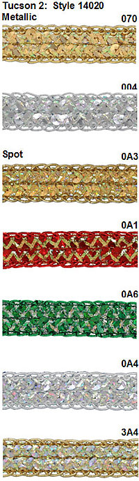 Sequin Trim Lace Tucson