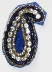 Rhinestone and Bullion wire Pasley Applique